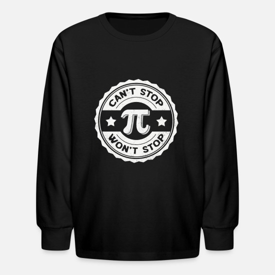 Day Long-Sleeve Shirts - Pi Day Math Teacher Nerd Algebra Pi - Kids' Longsleeve Shirt black