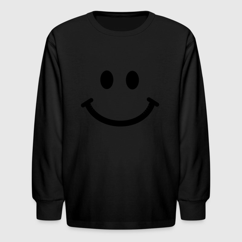 Happy Smiley Face - Kids' Long Sleeve T-Shirt