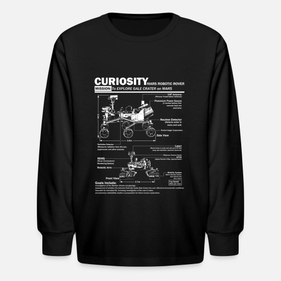 Nasa Long-Sleeve Shirts - Curiosity Mars Rover shirt - Kids' Longsleeve Shirt black