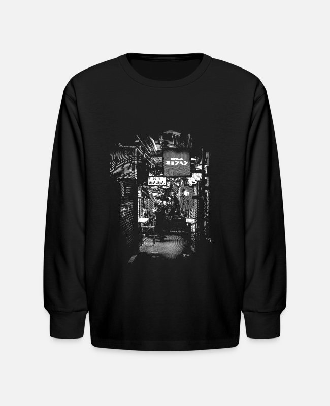 Sigh Long-Sleeved Shirts - Kichijoji Monochrome - Kids' Longsleeve Shirt black