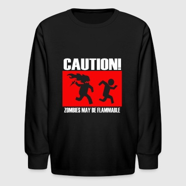Caution - Kids' Long Sleeve T-Shirt