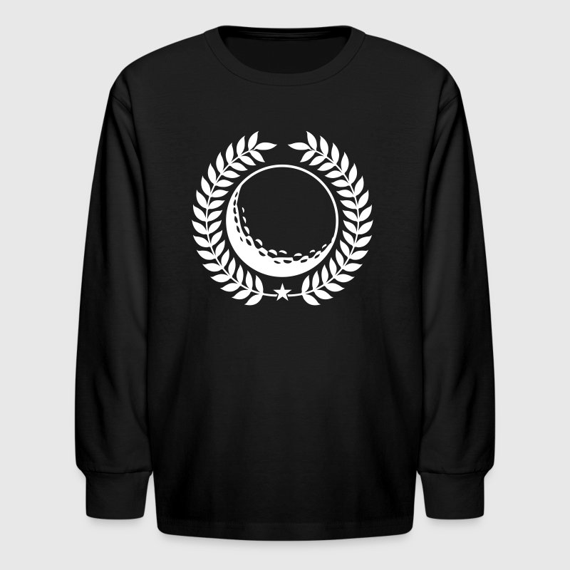Cool Golf ball Design - Kids' Long Sleeve T-Shirt