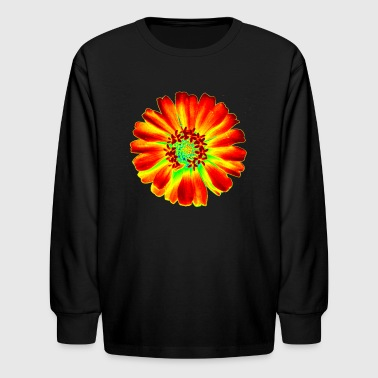 Psychedelic Flower - Kids' Long Sleeve T-Shirt