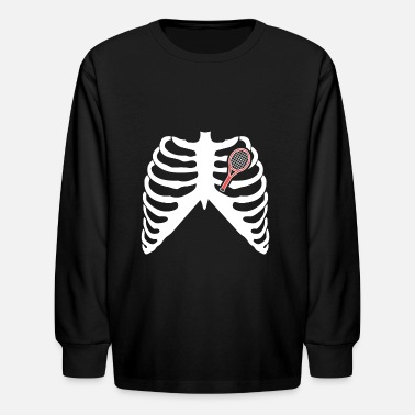 Love Tennis MY HEART BEATS FOR TENNIS - I LOVE TENNIS! - Kids' Long Sleeve T-Shirt
