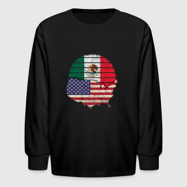 Mexican American Flag Mexican American Pride Design - Kids' Long Sleeve T-Shirt