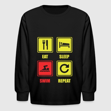 Swim. Swimming. Swimmer. Sports. Hobby - Kids' Long Sleeve T-Shirt