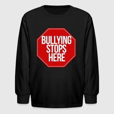 bullying stops here no bully zone - Kids' Long Sleeve T-Shirt