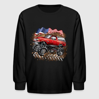 Mud Truck Ford Bronco - Kids' Long Sleeve T-Shirt