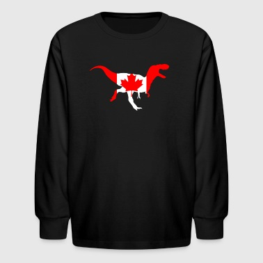 Maple Leaf Albertosaurus - Kids' Long Sleeve T-Shirt