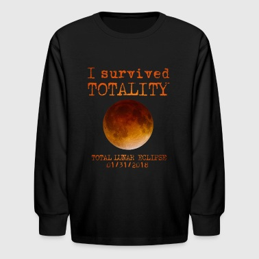 Lunar Eclipse I Survived Totality  - Kids' Long Sleeve T-Shirt