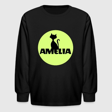Amelia First name Name Name Motif Christening - Kids' Long Sleeve T-Shirt