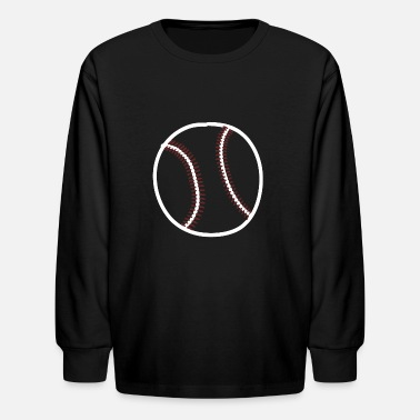 Sporty baseball base homerun sport sports strike ball - Kids' Longsleeve Shirt