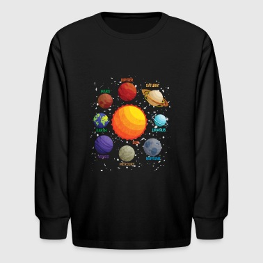 Solar System Space Exploration - Kids' Long Sleeve T-Shirt