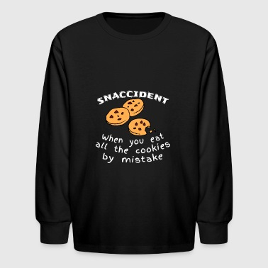 Snaccident Cookies Mistake Definition - Kids' Long Sleeve T-Shirt