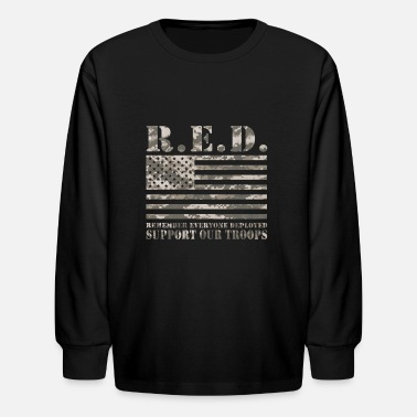 Red Friday Support Our Troops RED Friday Support Our Troops Camo Print - Kids' Longsleeve Shirt