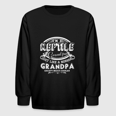 Reptile Grandpa Is Cooler Shirt - Kids' Long Sleeve T-Shirt