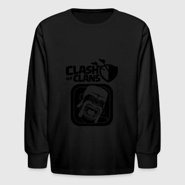 Barbarian Clash of Clans - Kids' Long Sleeve T-Shirt