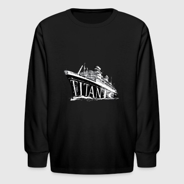 Titanic Historical Graphic Tee Shirt - Kids' Long Sleeve T-Shirt