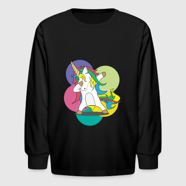 Unicorn Swag Dabbing Unicorn - Swag - Unicorn - Gift Shirt - Kids' Long Sleeve T-Shirt