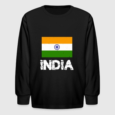 India National Pride Indian Flag Design - Kids' Long Sleeve T-Shirt