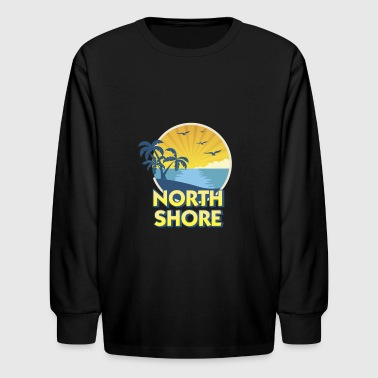 Vintage North Shore Island Surfing 70s Retro - Kids' Long Sleeve T-Shirt