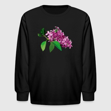 Small Cluster of Pink Lilacs - Kids' Long Sleeve T-Shirt