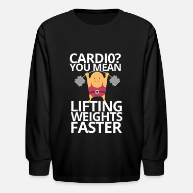 weights and cardio - Kids' Longsleeve Shirt