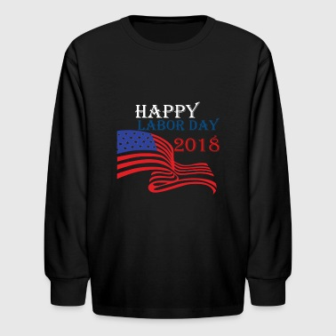 Laboratory Kids T-shirt Happy Labor Day 3rd September 2018 - Kids' Long Sleeve T-Shirt
