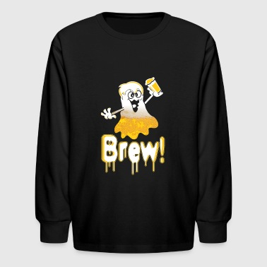 Funny beer character drunk - Kids' Long Sleeve T-Shirt