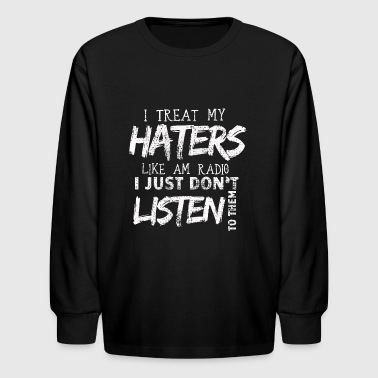 haters - Kids' Long Sleeve T-Shirt