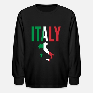 Italian Italian Gift - Italy Map Country - Kids' Longsleeve Shirt
