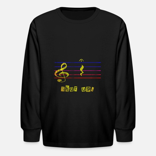 Gift Idea T-Shirts - Music Music School - Kids' Longsleeve Shirt black
