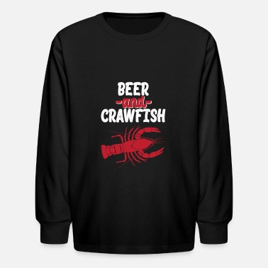 Beer And Crawfish Shirt Gift - Kids' Longsleeve Shirt