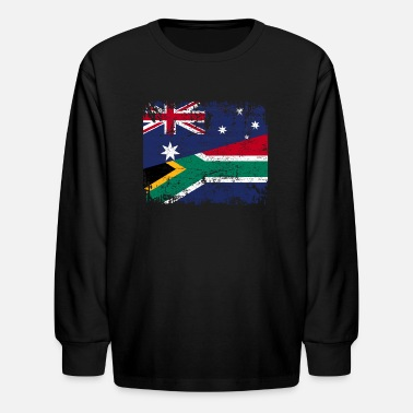 South AUSTRALIA SOUTH AFRICA FLAG - Half South African - Kids' Longsleeve Shirt