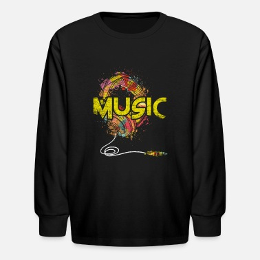Music Club Music Genre Music Is Life Music Club Musical Gift - Kids' Longsleeve Shirt