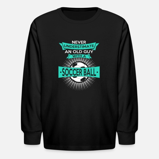 Soccer T-Shirts - soccer Soccer gift playing soccer - Kids' Longsleeve Shirt black
