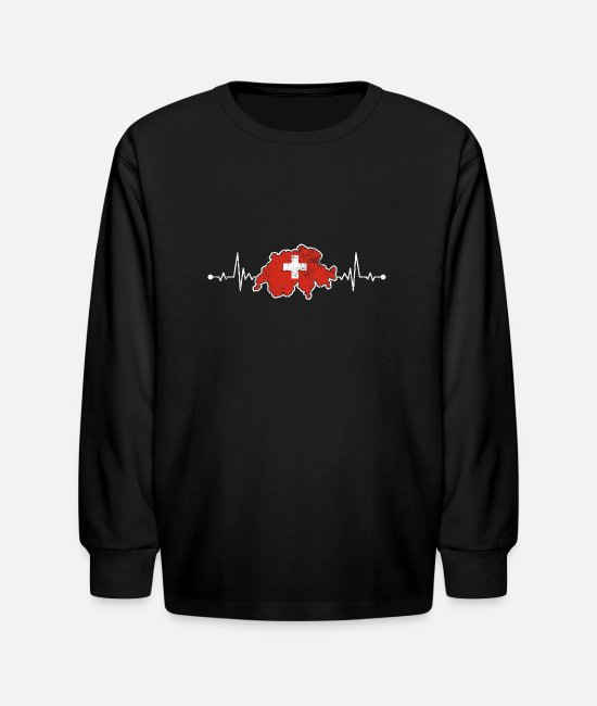 Bern Long-Sleeved Shirts - Switzerland - Kids' Longsleeve Shirt black