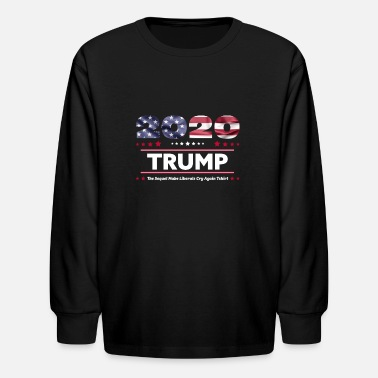 Fuck Obama Donald Trump Election 2020 make liberals cry again - Kids' Longsleeve Shirt