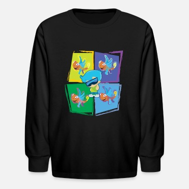 Youtube Funnell Vision Chase w/ Clarence - Kids' Longsleeve Shirt