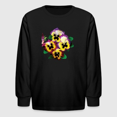 Bunch of Pansies - Kids' Long Sleeve T-Shirt