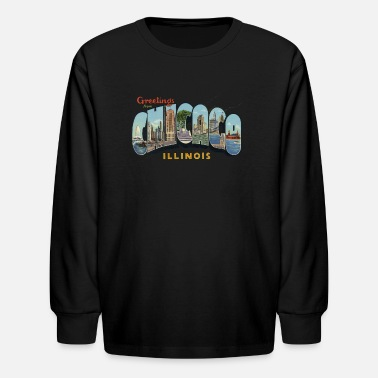 Illinois Pride Apparel Greetings Chicago Illinois Apparel - Kids' Long Sleeve T-Shirt