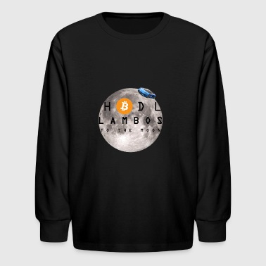 LAMBOS TO THE MOON! - Kids' Long Sleeve T-Shirt