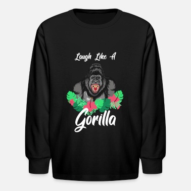 Laugh Like a Gorilla - Kids' Longsleeve Shirt
