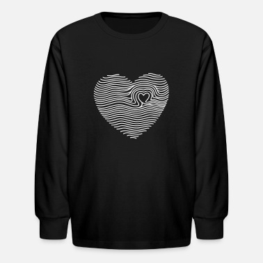 Touched My Heart - Kids' Long Sleeve T-Shirt