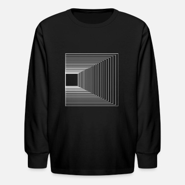 Flecked Geometric Graphic art t-shirt for men - Kids' Longsleeve Shirt