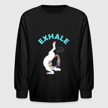 exhale - Kids' Long Sleeve T-Shirt
