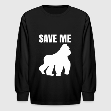 Gorilla - animal rights - save - gorillas - Kids' Long Sleeve T-Shirt
