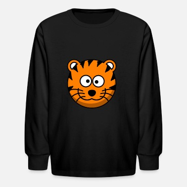 Let The Tigers Tiger Smiling Tiger! - Kids' Long Sleeve T-Shirt