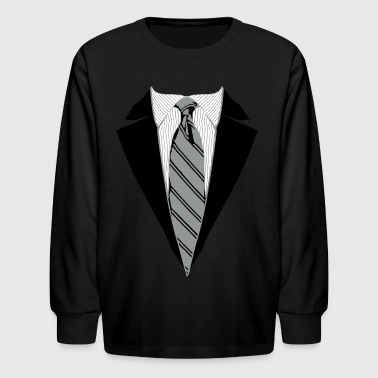 Suit and Tie Tee, Coat and Tie T-shirt - Kids' Long Sleeve T-Shirt