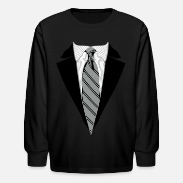 Up Suit and Tie Tee, Coat and Tie T-shirt - Kids' Long Sleeve T-Shirt